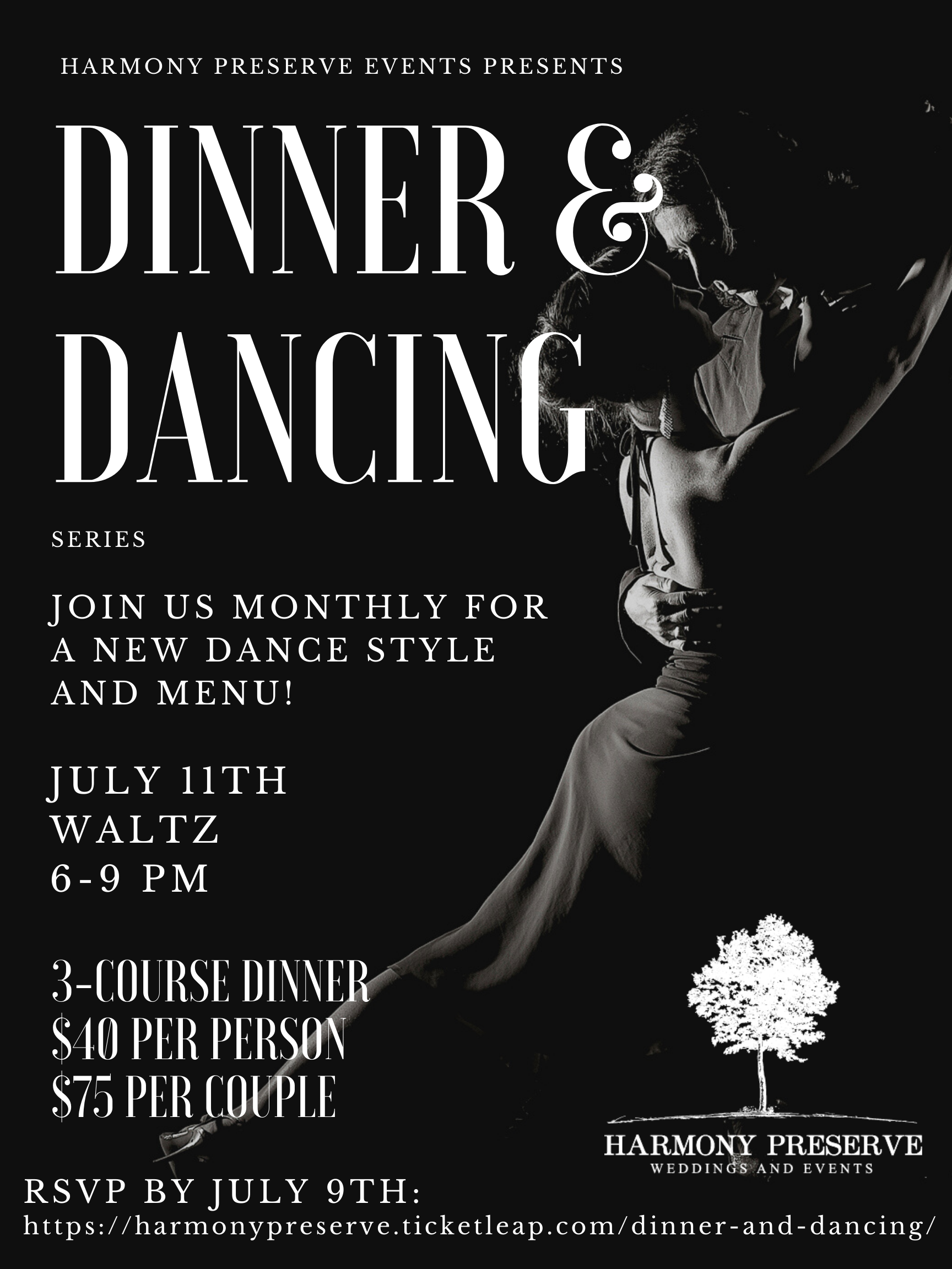 Dinner and Dancing at Harmony